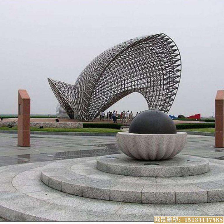 不锈钢景观镂空雕塑